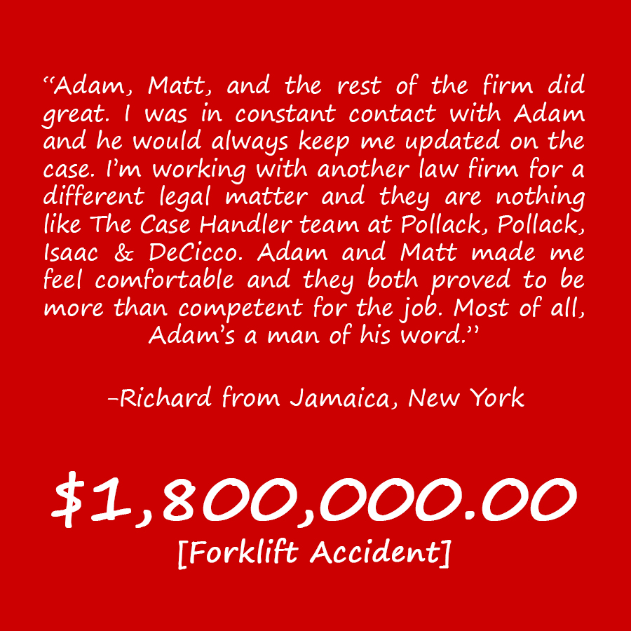 Brooklyn Forklift Accident Lawyer Review Richard